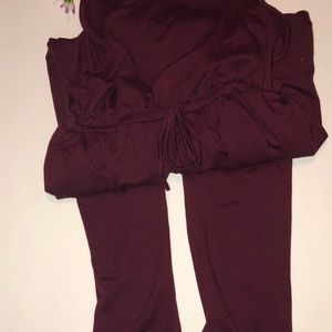 Burgundy Red jumpsuit